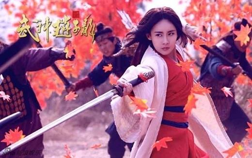 Giả Thanh vai Công Tôn Bảo Nguyệt, cô cũng đem lòng yêu Triệu Tử Long