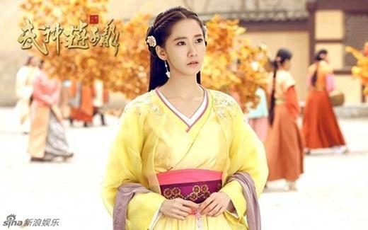 Yoonađảm nhận vai Hạ Hầu Khinh Y, người phụ nữ một lòng yêuTriệu Tử Long (Lâm Canh Tân).
