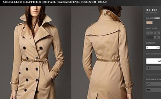 Còn áo khoác gắn mác Burberry tiêu tốn của người đẹp 2.195 USD (khoảng 47 triệu đồng). - Tin sao Viet - Tin tuc sao Viet - Scandal sao Viet - Tin tuc cua Sao - Tin cua Sao