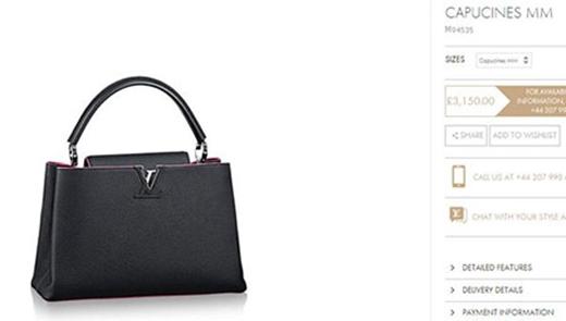 3.150 bảng Anh (hơn 100 triệu đồng) là giá của chiếc túi xách Louis Vuitton dòng Capucines. - Tin sao Viet - Tin tuc sao Viet - Scandal sao Viet - Tin tuc cua Sao - Tin cua Sao