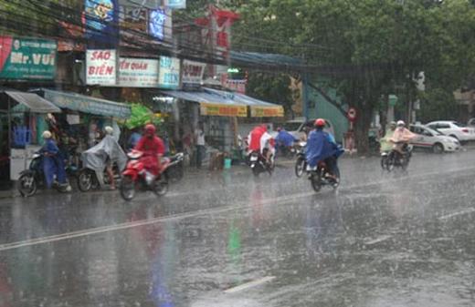 Miền Trung sẽ xuất hiện mưa to và gió giật mạnh
