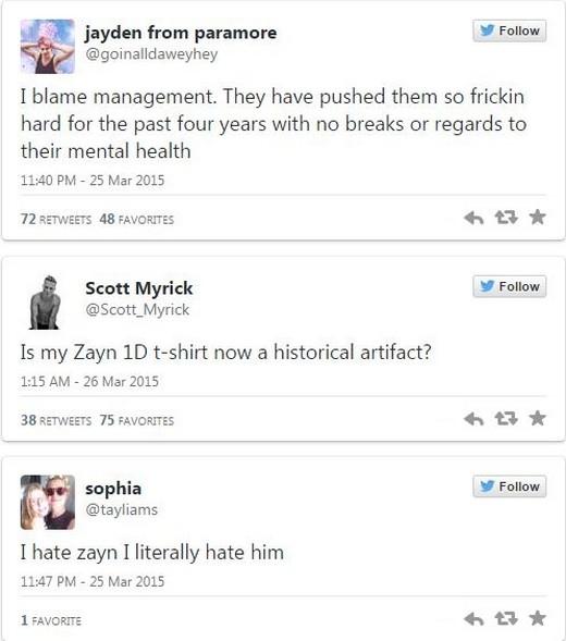 Fan đau khổ khi Zayn Malik rời khỏi One Direction