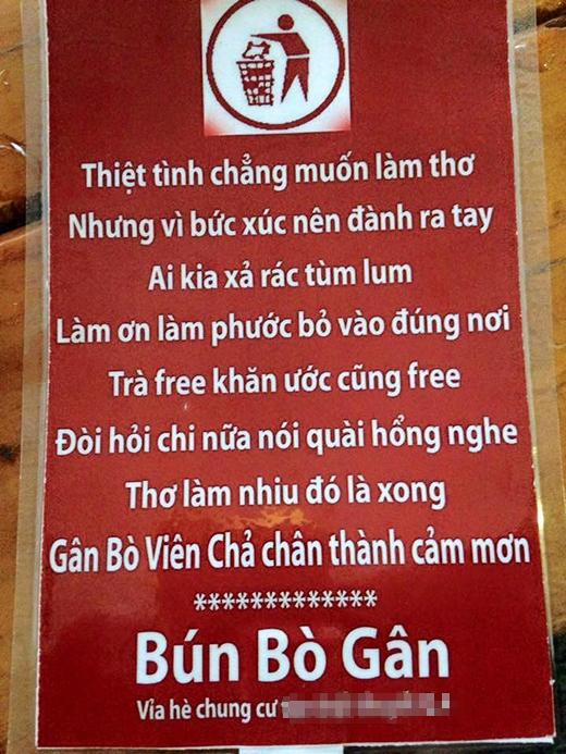 Quán bún bò Sài Gòn gây sốt vì những tấm bảng quảng cáo bá đạo