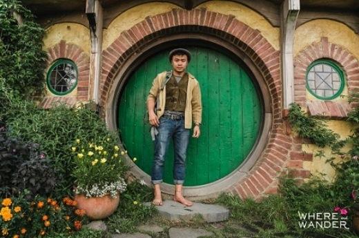 Kiên Lâm tới làng của người Hobbit tại New Zealand