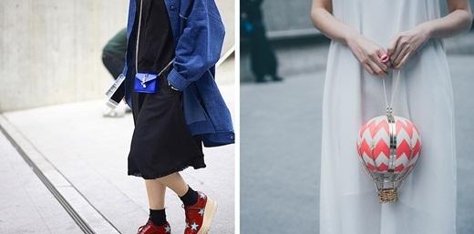 Những chiếc túi xách mini với nhiều kiểu dáng và màu sắc cũng đang làm điên đảo các tín đồ thời trang Hàn Quốc.