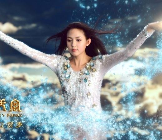 Hoa hậu Thế giới Trương Tử Lâm khiến khán giả hồn xiêu phách lạc khi hóa thân thành Nữ Oa nương nương trong Tề Thiên Đại Thánh.
