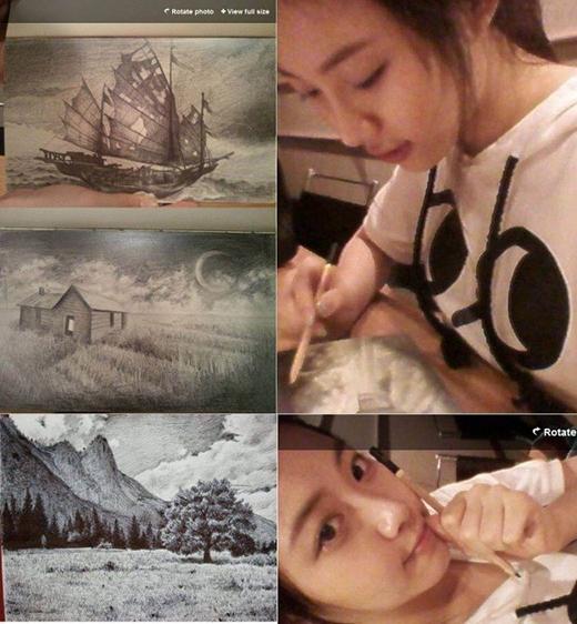 Yura (Girl's Day) từng thể hiện tài năng hội họa của mình trong nhiều chương trình truyền hình thực tế. Cô nàng thường thích phác họa hình ảnh bằng bút chì hoặc than.