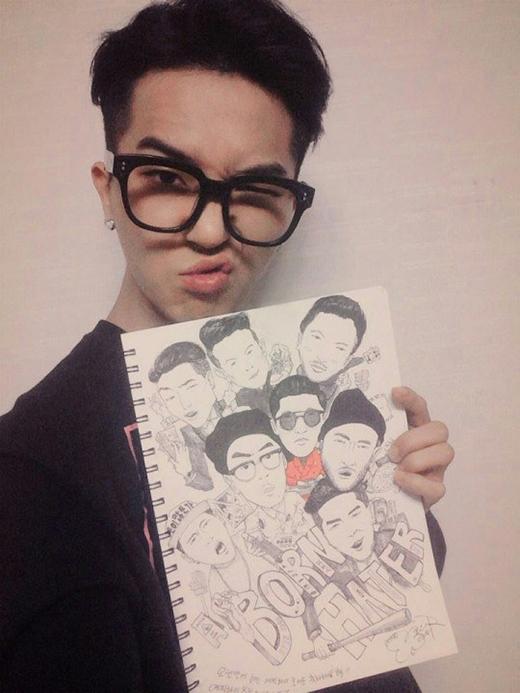 Trố mắt với tài năng hội họa tuyệt vời của thần tượng Kpop
