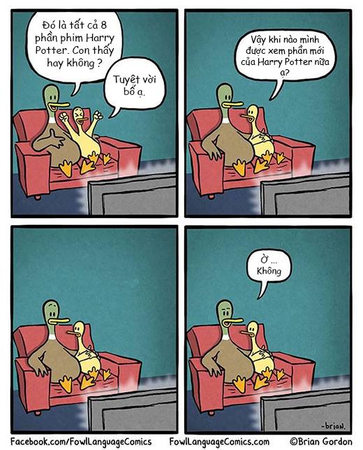Bộ tranh chú vịt hài hước khiến nhiều người phải suy ngẫm