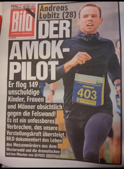 Thông tin vềAdreas Lubitzđang tràn ngập trên các báo