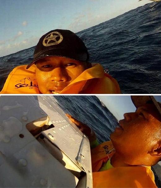 Năm 2013, máy bay chở anh Puentes đến Hawaii đã bất ngờ gặp nạn trên biển. Sau khi tìm được mảnh vỡ để bám vào, anhPuentes đã tươi cười dùng máy quay ghi lại toàn bộ sự việc