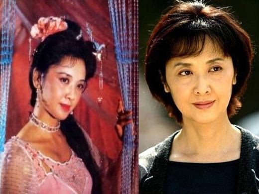 Diễn viên Chu Lâm gây ấn tượng với vai diễn Nữ vương Tây Lương nữ quốc được coi quốc sắc thiên hương của phim Tây Du Ký. Giờ dù đã ở tuổi lục tuần, Chu Lâm vẫn đẹp nền nã.