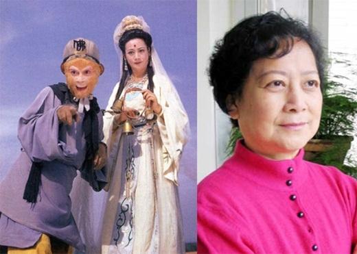 Tả Đại Phân đóng vai Quan Âm Bồ Tát, năm nay ngoài 70 tuổi.