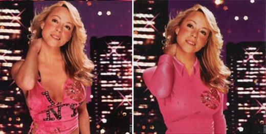 Có thể nói, Mariah là một trong những ca sĩ bị kiểm duyệt bìa album nhiều nhất vì những khán giả Trung Đông không nghĩ rằng cô ăn mặc phù hợp với tiêu chí của họ.