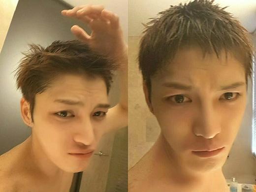 Jaejoong đăng tải hình mái tóc ngắn và gừi lời chào tạm biệt đến các fan, nhân viên trong công ty và đặc biệt là ba thành viên JYJ.