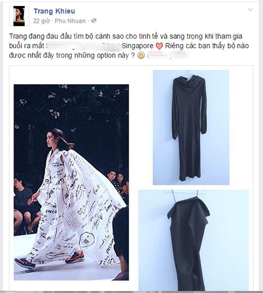 """Thanh Hằng khoe hàng hiệu, Trang Khiếu """"đau đầu"""" lựa chọn trang phục dự tiệc tại Singapore"""