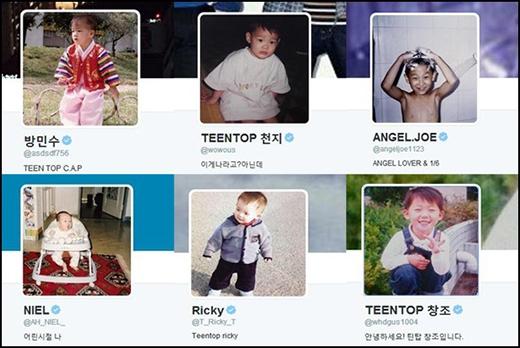 Các chàng trai Teen Top đã đồng loạt đổi hình ảnh đại diện trên Twitter thành hình lúc bé vào ngày 1/4 khiến fan vô cùng thích thú.