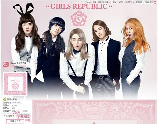 Nhóm Boys Republic đã đổi hình ảnh trang chủ của website chính thức bằng cách chuyển giới thành Girls Republic. Họ đã dùng photoshop thay đổi hình ảnh của mình khiến fan không khỏi thích thú và chia sẻ: Mọi người nghĩ những thành viên của Girls Republic có dễ thương không?.