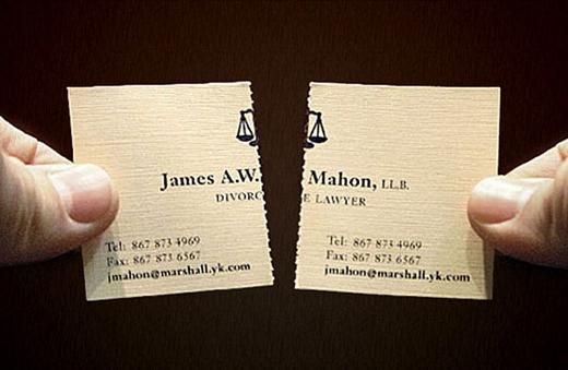 Luật sư ly hôn đã có tấm danh thiếp siêu tiết kiệm