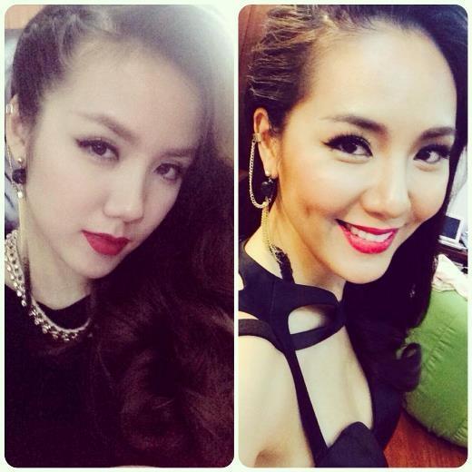 Trông Phương Ly và Phương Linh như hai chị em song sinh
