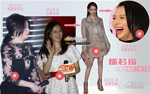 Từ Nhược Tuyên gần như tự trách mình khi tăng cân vèo vèo trong vòng 3 năm trở lại đây. Cô từng là biểu tượng vẻ đẹp gợi cảm của Đài Loan.