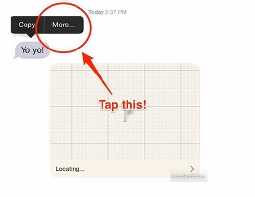 Chạm hai lần liên tục vào tin nhắn, bạn có thể chuyển tiếp tin nhắn đó một cách dễ dàng.