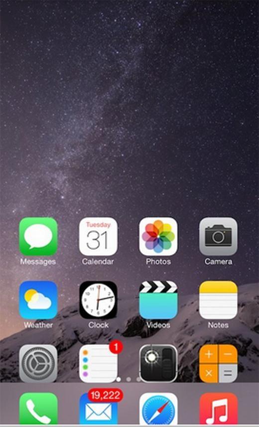 Trên iPhone 6/6 Plus có chế độ kéo các nội dung xuống dưới màn hình (chế độ đa nhiệm). Bạn chỉ cần nhấn đúp phím Home để kích hoạt.