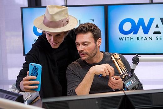 Justin tham gia chương trình Radio của Ryan