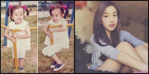 Mie Nguyễndù đã lớn nhưng nét xinh xắn và nụ cười của cô nàng vẫn như ngày còn bé.