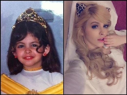 Cô nàng hot girlAndrea ngày bé đã vô cùng xinh xắn và đáng yêu. Các nét ngày nhỏ và khi trưởng thành của Andrea không thay đổi quá nhiều. Có chăng cũng chỉ là nhìn cô ngày càng xinh đẹp và quyến rũ hơn.