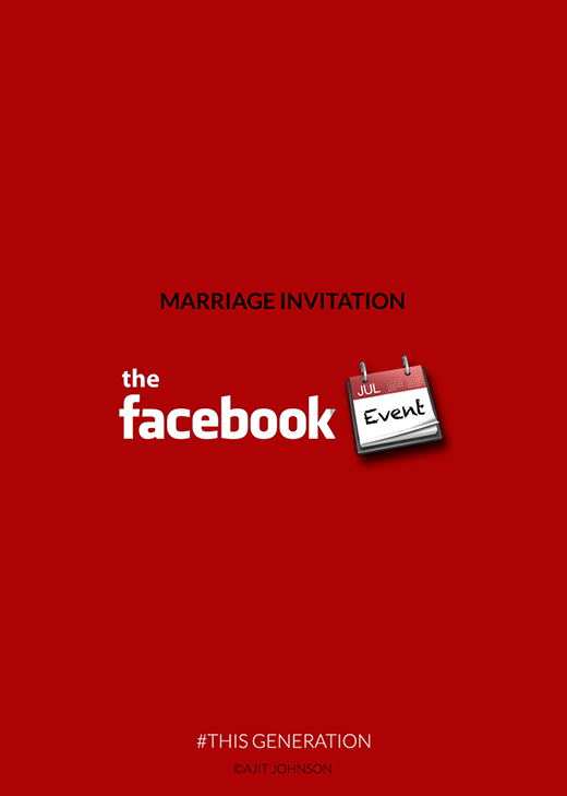 """Và thậm chí đến cả mời dự tiệc cưới, người ta cũng tận dụng triệt để mạng xã hội để """"thay lời muốn nói""""."""