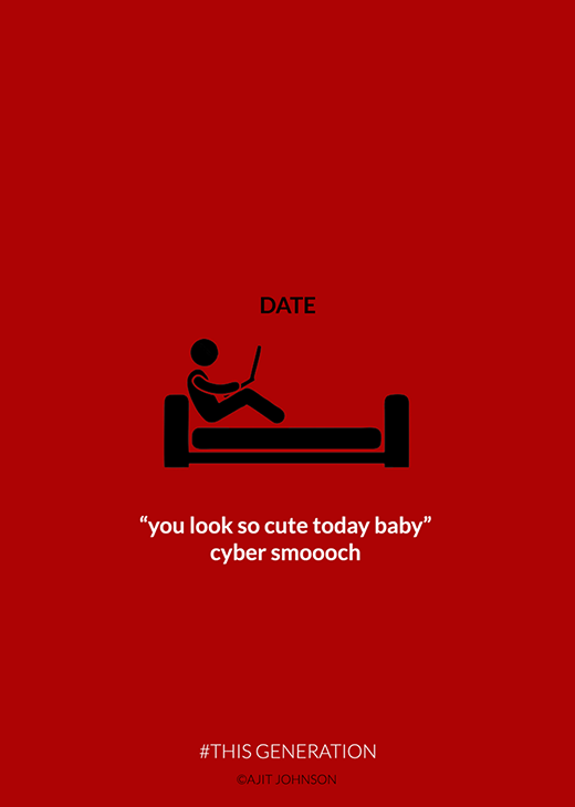 """Hẹn hò thời @ là nằm ôm máy và nhắn tin yêu thương rằng: """"Hôm nay em trông thật xinh xắn đó cưng à""""."""