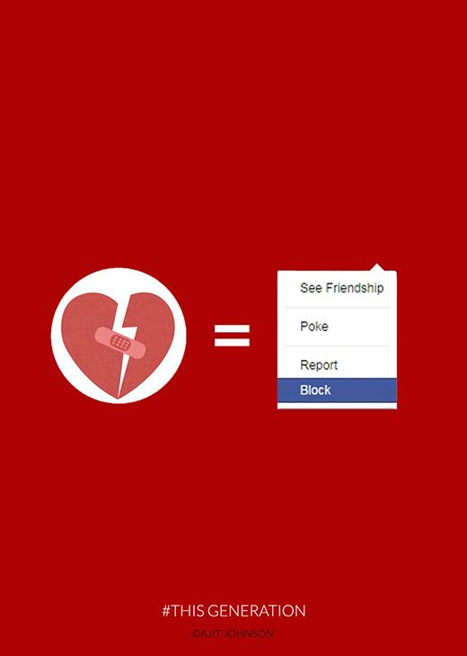 """Tình yêu thời nay: Không yêu thì mình cứ """"block"""" (khoá tài khoản) nhau trên facebook vậy!"""