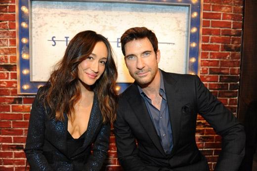 Nữ diễn viên và chồng chưa cưới.