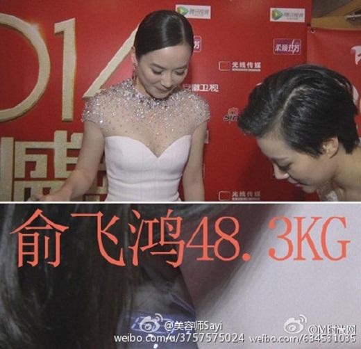 Dở khóc dở cười khoảnh khắc giai nhân Hoa ngữ bị ép công khai cân nặng