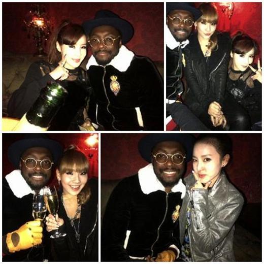 Tháng 2/2012, 2NE1 có một cuộc gặp gỡ thú vị với Will.I.Am tại hộp đêm để mừng sinh nhật của CL.