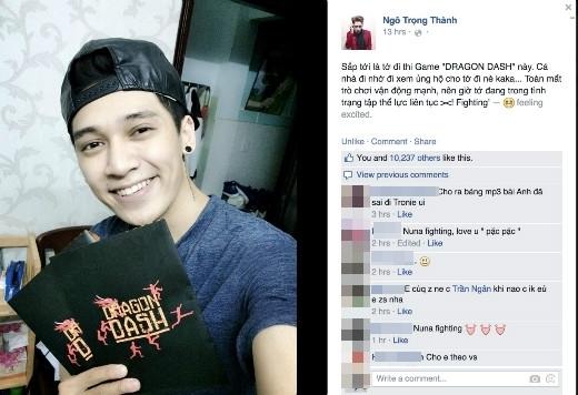 Ca sĩ Tronie Ngô cũng đăng tải hình ảnh hào hứng khi nhận được bộ Kit chương trình và tiết lộ đang tập luyện hăng say cho cuộc đua đầy khó khăn.
