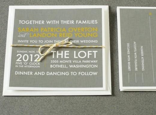 Những tấm thiệp cưới sử dụng thiết kế typhography rất thu hút