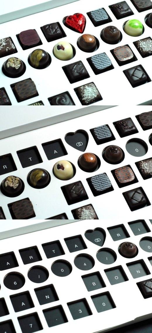 Khi bạn ăn hết các viên sôcôla, nội dung thiệp cưới sẽ lộ diện