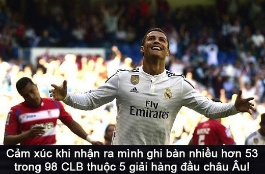 Với 5 bàn thắng vào lưới Granada, Ronaldo nâng tổng số bàn thắng tại La Liga mùa này lên 36. Thành tích của CR7 nhiều hơn 53 đội bóng thuộc 5 giải hàng đầu châu Âu.