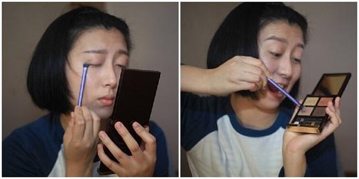 Đối với việc trang điểm phần mắt, Noaaah nhắc nhở cần phải thoa đều phấn nền ở phần da xung quanh mắt, góc mắt để lớp trang điểm sau này không dễ bị trôi đi.