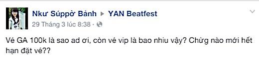 Cư dân mạng dậy sóng vì lễ hội âm nhạc YAN Beatfest 2015