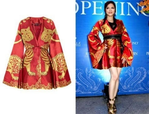 Lý Nhã Kỳ mặc chiếc váy của nhà thiết kế nổi tiếng Alexander McQueen, một trong hai mẫu thiết kế 'độc' mà cô đã đấu giá được trước khi ông qua đời. Chiếc váy có giá 40.000USD (khoảng 1,5 tỷ đồng). - Tin sao Viet - Tin tuc sao Viet - Scandal sao Viet - Tin tuc cua Sao - Tin cua Sao