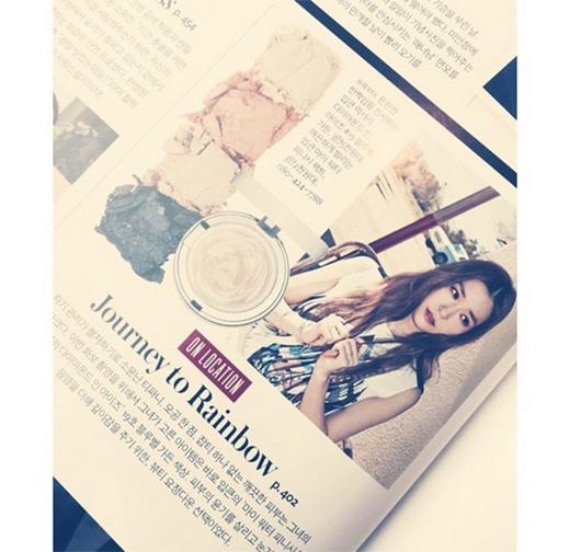 Tiffany khoe hình mình trên tạp chí