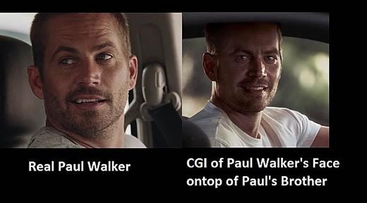 Paul thật (trái) và Paul từ công nghệ CGI