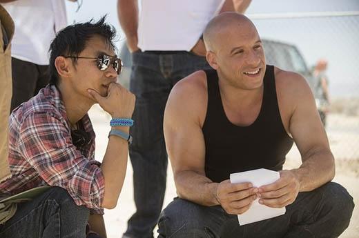 Đạo diễn James cùng diễn viên Vin Diesel