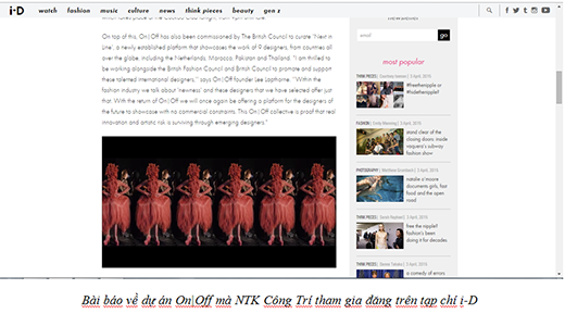 Nhà thiết kế Nguyễn Công Trí được truyền thông nước ngoài săn đón