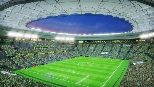 """Phối cảnh bên trong """"thánh địa"""" Timsah Arena của Bursaspor."""