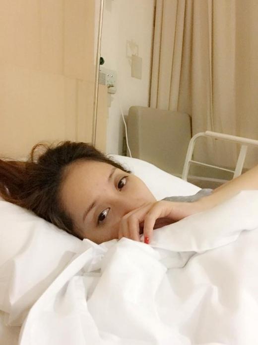 Mới đây, Khánh Thy đã phải nhập viện vì động thai.