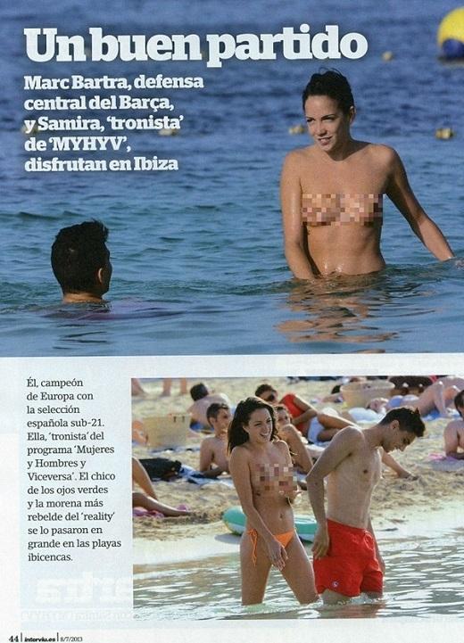 Ronaldo xoa đùi, gạ tình bạn gái Marc Bartra